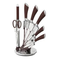 Sada nožů ve stojanu 8 ks nerez Infinity Line hnědá