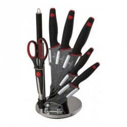 Sada nožů 8 ks ve stojanu Black Stone Touch Line BH-2119
