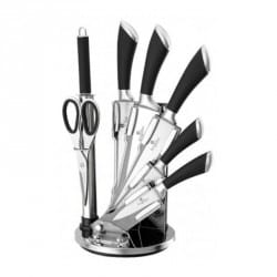 Sada nožů ve stojanu 8 ks nerez / černá