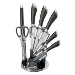 Sada nožů ve stojanu 8 ks Perfect Kitchen  nerez / karbon