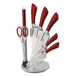 Sada nožů ve stojanu 8 ks nerez Infinity Line červená