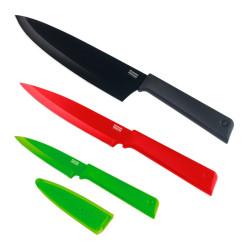 Sada nožů 3ks modrý/červený/zelený