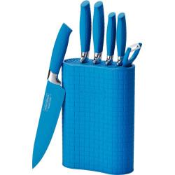 Sada nožů s nepřilnavým povrchem v bloku 7 ks modrá RL-6MSTU