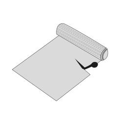 Podložka do zásuvky plast transparentní 150x50cm