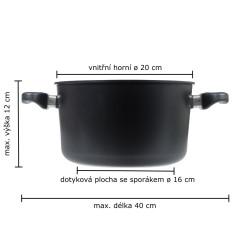 Vaření v páře 20 cm - indukce