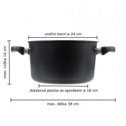 Vaření v páře 24 cm - indukce