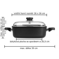 Vaření v páře 26 x 26 cm